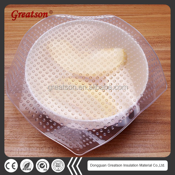 Recycling Environmental Kitchen fresh protection film food wrap resist high/low temperature change Silicone Preservative Film
