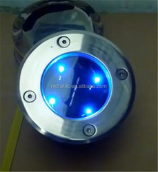 waterproof recessed in concrete solar led lights