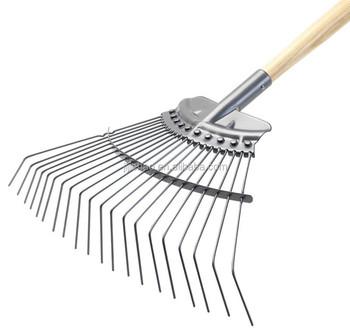 Carbon heavy duty lawn rake 54 steel leaf rake buy for Heavy duty garden rake