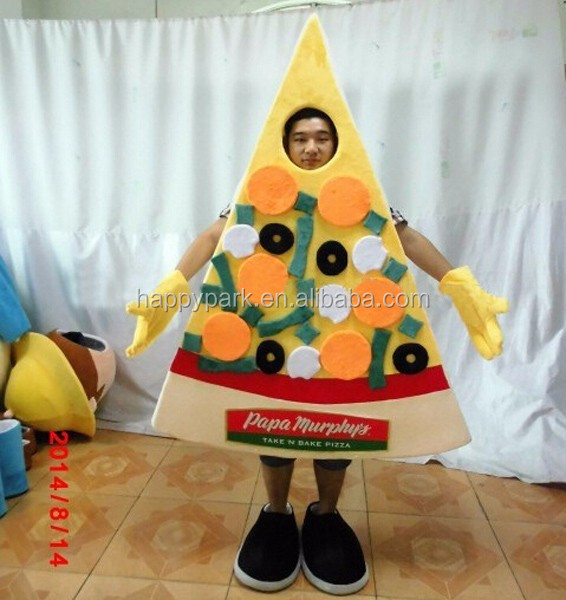 custom made adult pizza mascot costume for promotion