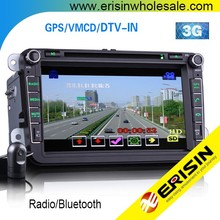 "Erisin ES8015V 8"" 2 Din Car GPS DVD Player 3G PASSAT CC 2009"