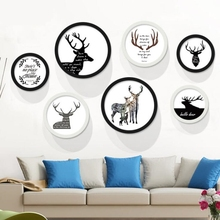 XM022 Fashion Item Hot Seller Simple Design Wall Canvas Painting Round Picture Frames
