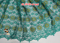 Silver line cheap courier service to nigeria laces for garment teal chemical lace