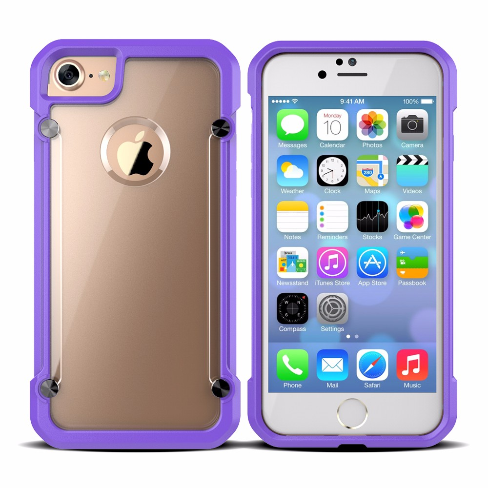 For iPhone 7 Case TPU Bumper PC Back Cover Shockproof Mobile Phone Case