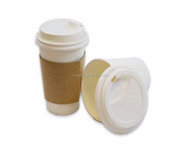 Hot Cups Travel Mug Beverage Tea Cup with Travel Lids and Sleeves