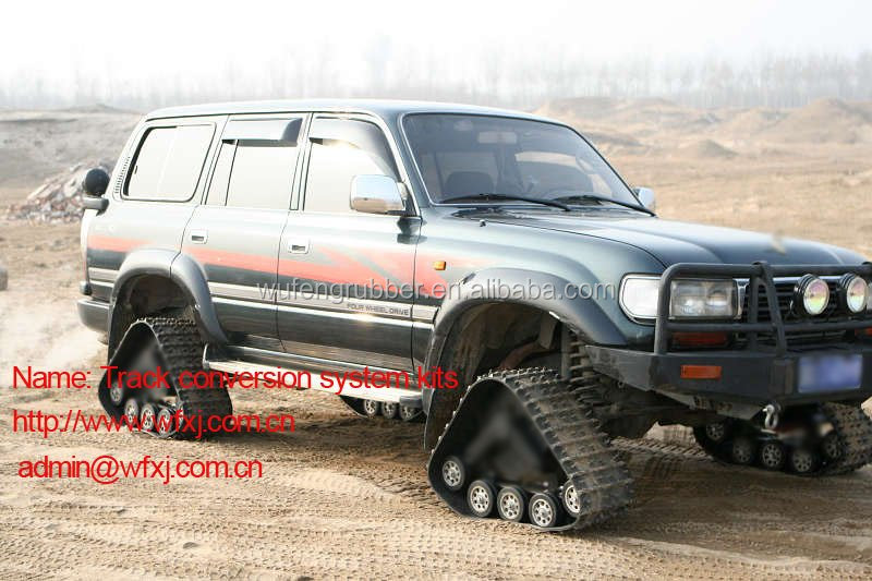 All-terrain SUV conversion system kit rubber track 4x4 car manufacturer
