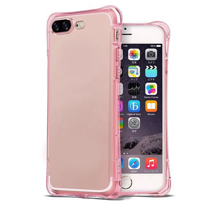 Wholesale Mobile Cover Soft Clear TPU Shockproof Air Cushion Bumper Phone Cases for iPhone 6 6S Plus 5.5