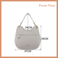 2016 Large Size White PU Hobo Bag For New Fashion Ladies