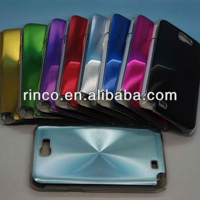 Metal Back Plastic Case Cover for Samsung Galaxy Note 2 II N7100 case