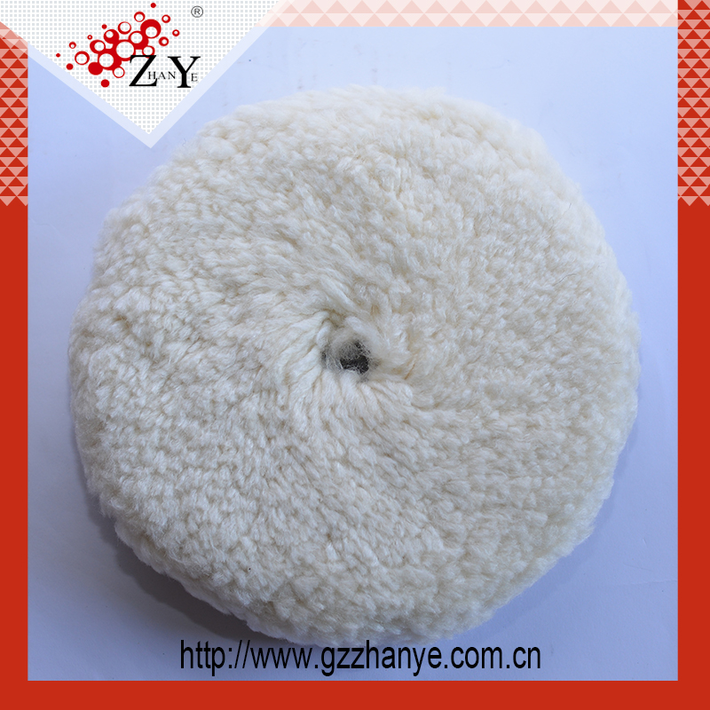 New High Quality Car Cleaning Round Double Sided Lamb Wool Polishing Pad For Car
