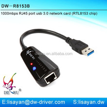 Gigabit driver free external usb to rj45 lan card for laptop