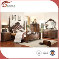 American design complete set antique wooden bedroom furniture WA148