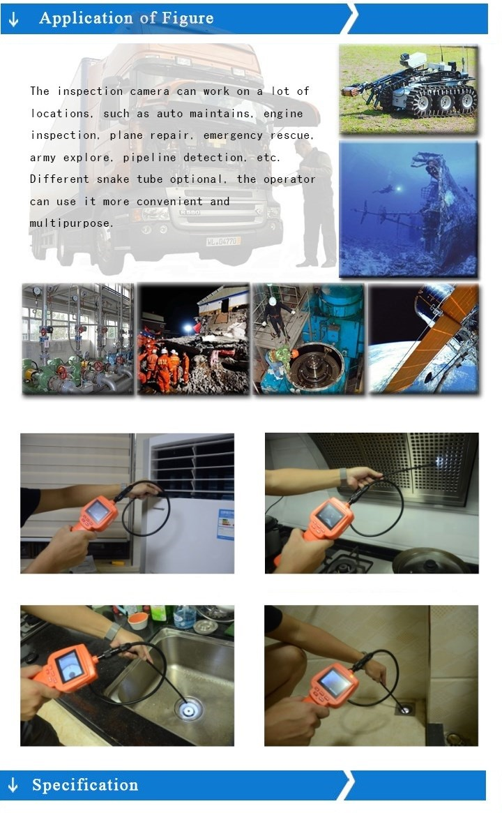 industrial borescope endoscope articulating video scope camera