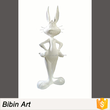 Handmade Fiberglass Cartoon Rabbits Design Rabbit Sculpture