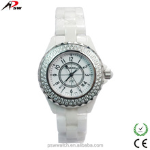 alibaba hot selling products with stainless steel case, water resistant ceramic wrist watch