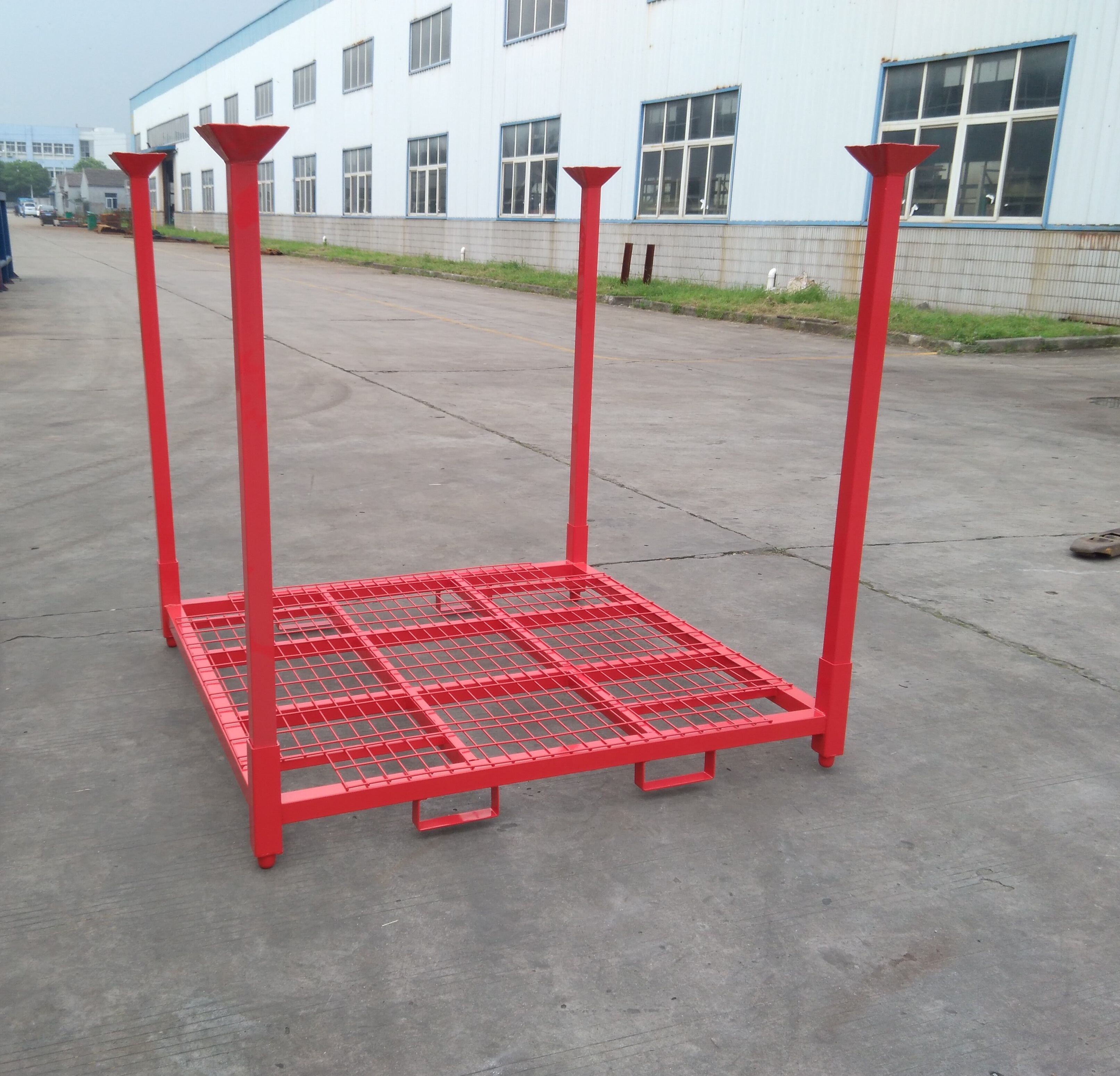 Industrial folding warehouse heavy duty stacking steel pallet <strong>rack</strong>