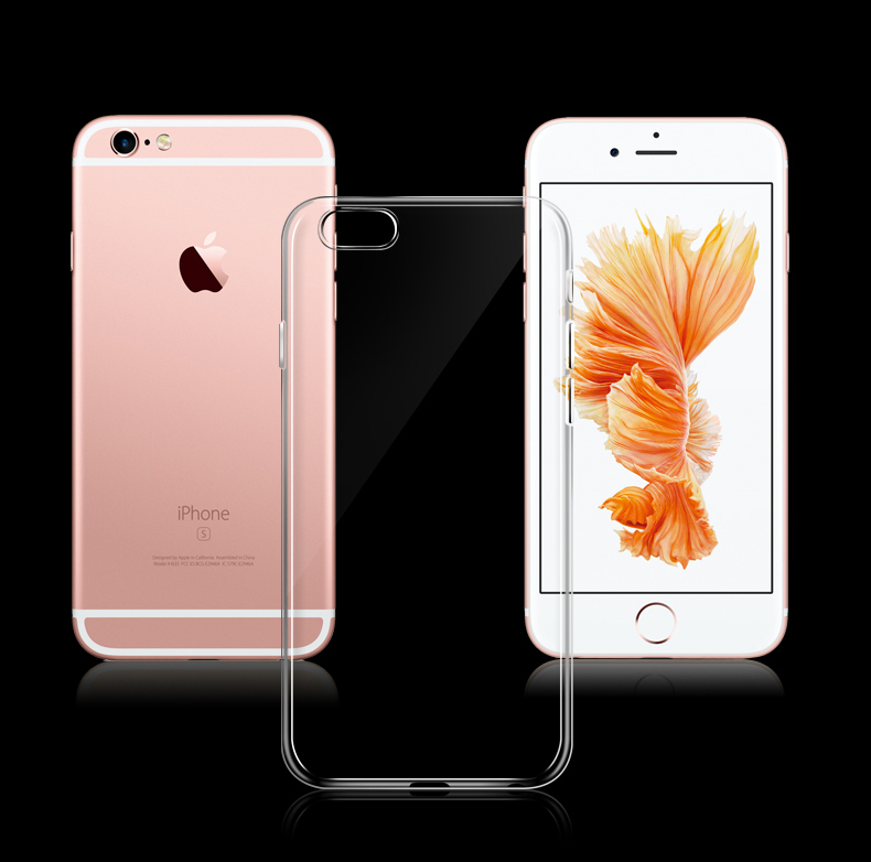 For Apple iPhone7 iPhone 7 Case Funda Crystal Clear Transparent TPU Soft Phone Case Back Cover for iPhone7 Plus Protector Shell