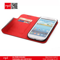 Durable customized smart wallet shell case for samsung S3 and iphone 5 with stand and matte feel