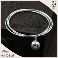 Popular amazing design with little bell 925 sterling silver bangle
