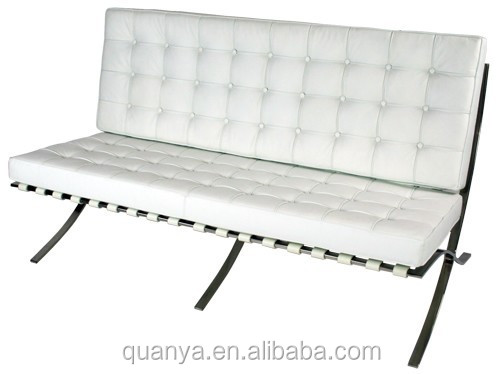Stainless steel leather barcelona sofa/Barcelona sofa chair