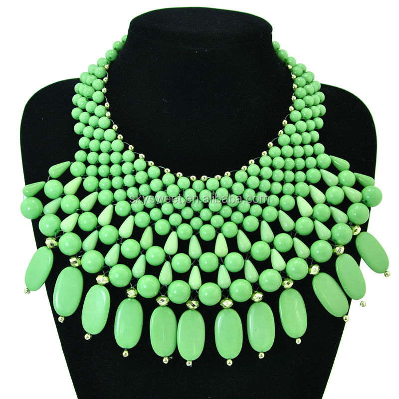 very big beads area in front necklace, south africa jewelry, black women necklaces