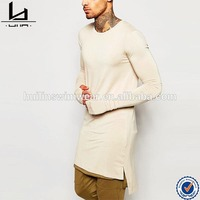 wholesale in china 100%cotton new design costom long t shirt man