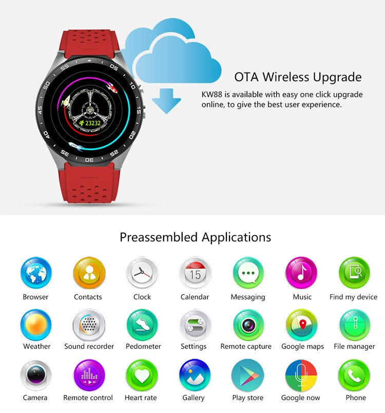Best quality 3g wifi Android 5.1 smart watch for samsung galaxy gear