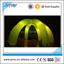 Colorful 6 legs inflatable light tent for wedding party