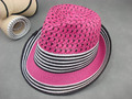 China supplier professional hot sale solid straw fedora hat