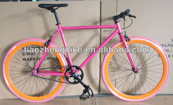 good quality steel materail 700c*27inch tire pink colour road bike fixed gear bicycle chopper bike