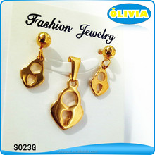 Gold jewellery dubai wholesale natural stone jewelry set