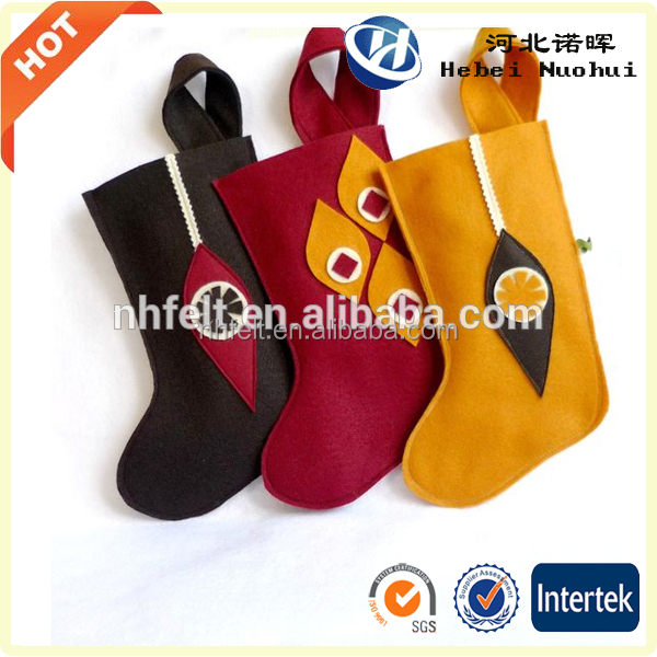 Promotional Customized Printed Cheap Christmas Decoration Sock