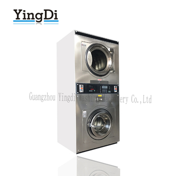 2017 Commercial Coin Double Stack Washer And Dryer Laundry Coin Operated Washing Machine And Dryer For Sale
