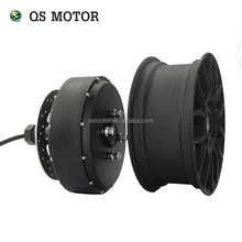 New QS Motor 12*5.0inch 1500W-5000W 260 Brushless <strong>DC</strong> Electric Dual Shaft Detachable Bike Scooter Wheel Hub Motor
