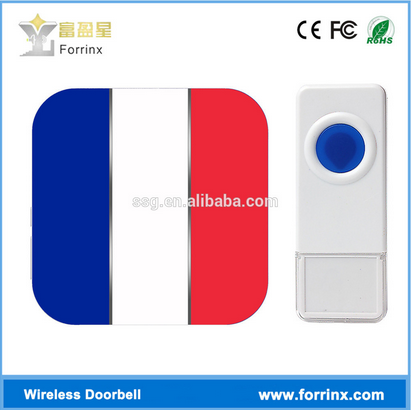 forrinx popular smart home security system EURO flag B19 wireless doorbell 52 melodies and 1000ft working distance