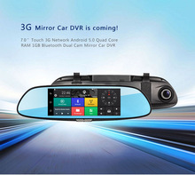 3G SIM card GPS bluetooth navigation mirror 3G WIFI car dvr dash cam 2017 hot new products