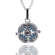 VX149 wholesale Crystal Necklace Essential Oil Lava Stone Aromatherapy locket Diffuser Necklace