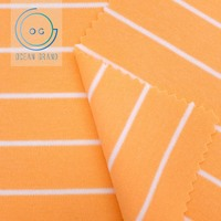 Taiwan 100% Cotton Striped Knit Interlock Fabric for Baby Garment