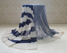 Wholesale Fashion Vogue Stripe Printed Polyester Scarf Viscose Shawls