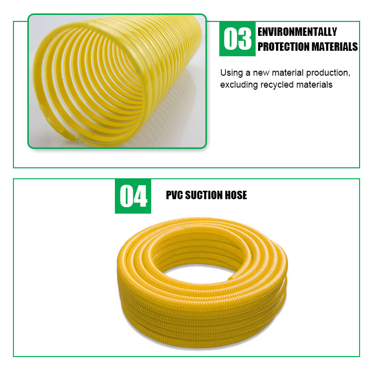 FDA standard flexible pvc suction hose pipe