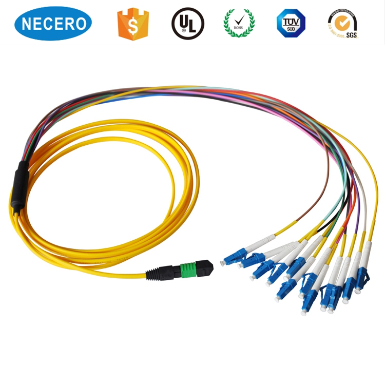 Telecom Communication Swa Waterproof Yellow Mpo Sc Patch Cord Fiber Patch Cord Importers Mpo Fiber Patch Cable