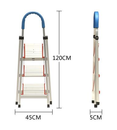 Aluminium Ladder ,Aluminum three section extension ladder.,aluminum trolley step ladder