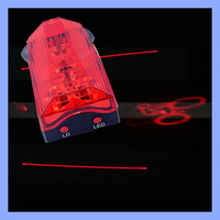 Tail Light 2 Laser 5 LED Beam Cycling MTB Bike Bicycle Rear Projector Running Flashing Lights