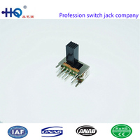 high quality 3 position 2p3t horizontal slide switch,slide switch