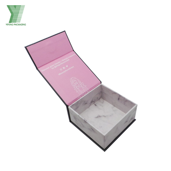 Custom magnetic closure marble pattern cardboard paper packaging jewelry gift box