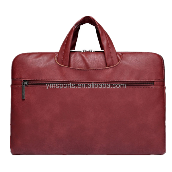 Promotional Waterproof leather 15 Inch Laptop Sleeve