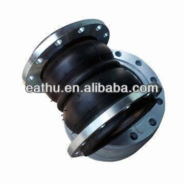 Rubber expansion joint pipe