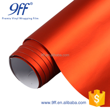 New Fashion Matte Orange Car Wrapping Film With Air Channels