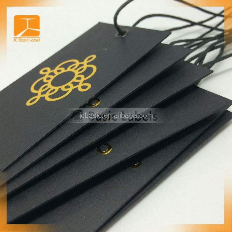 China custom coated paper round clothing hang tag with logo