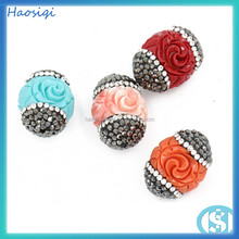 acrylic plastic flower pendant for women jewelry making